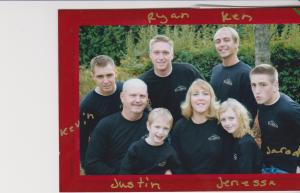 My daughter, Debbie, and her family