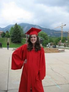 My granddaughter's high school graduation in Boulder, Colorado
