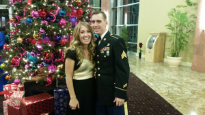 My grandson, Kevin, who is an army medic, and his finance